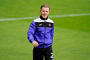 Matt Jay (20) of Exeter City warming up before the EFL Sky Bet League 2 match between Exeter City and Lincoln City at St James' Park, Exeter, England on 19 August 2017. Photo by Graham Hunt.