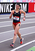 Katie Burnett competes during the 3000 yard race walk during the USA Indoor Track and Field Championships in Staten Island, NY, Sunday, Feb 24, 2019. (Rich Graessle/Image of Sport)
