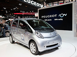 Citroen ION electric car at Paris Motor Show 2010