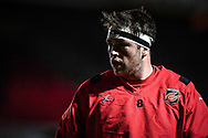 Dragons' James Benjamin during the pre match warm up<br /> <br /> Photographer Craig Thomas/Replay Images<br /> <br /> EPCR Champions Cup Round 4 - Newport Gwent Dragons v Newcastle Falcons - Friday 15th December 2017 - Rodney Parade - Newport<br /> <br /> World Copyright © 2017 Replay Images. All rights reserved. info@replayimages.co.uk - www.replayimages.co.uk