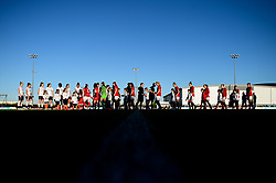 Bristol City Women and Liverpool FC Women shake hands prior to kick off - Mandatory by-line: Ryan Hiscott/JMP - 19/01/2020 - FOOTBALL - Stoke Gifford Stadium - Bristol, England - Bristol City Women v Liverpool Women - Barclays FA Women's Super League