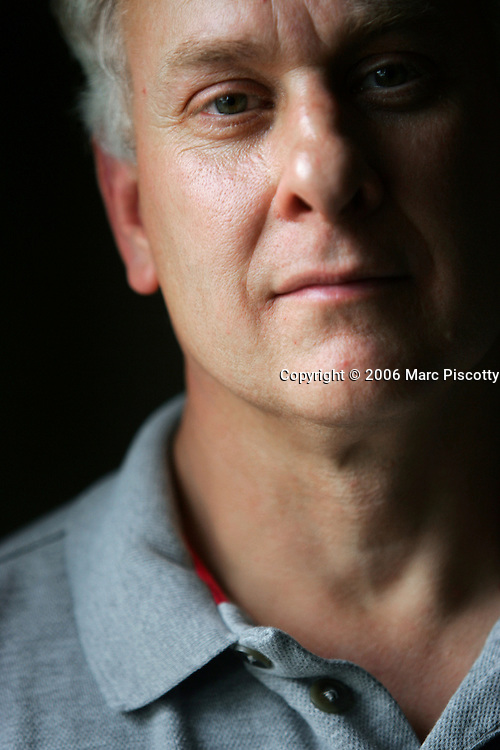 Brian Rohrbough, the father of Columbine victim Daniel Rohrbough, poses for a portrait after the release of more than 900 pages of materials seized from Columbine High School killers Eric Harris and Dylan Klebold that were finally released to the media and public Thursday July 6, 2006 by the Jefferson County Sheriff's Department. The materials inluded diaries, violent drawings and messages the two wrote to each other in their yearbooks. Rohrbough like many close to the incident believes the Sheriff's Department has attempted to cover up their knowledge of the danger that Klebold and Harris presented prior to the school shootings in 1999. Rohrbough was photographed at the auto sound and home theatre store he owns in Englewood..(MARC PISCOTTY/ © 2006)