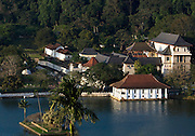Kandy is the English name for the city of Maha Nuvara (Senkadagalapura) in the centre of Sri Lanka. It is the capital of the Central Province and Kandy District. It lies in the midst of hills in the Kandy Valley which crosses an area of tropical plantations, mainly tea.