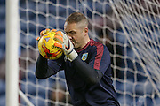 Burnley goalkeeper Paul Robinson  during the Sky Bet Championship match between Burnley and Nottingham Forest at Turf Moor, Burnley, England on 23 February 2016. Photo by Simon Davies.