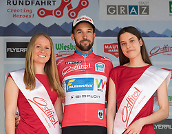 02.07.2017, Graz, AUT, Ö-Tour, Österreich Radrundfahrt 2017, 1. Etappe, Prolog, Siegerehrung, im Bild Markus Eibegger (AUT, Team Felbermayr Simplon Wels) // Markus Eibegger (AUT, Team Felbermayr Simplon Wels) on podium during award ceremony for the Stage 1, Prolog of 2017 Tour of Austria. Graz, Austria on 2017/07/02. EXPA Pictures © 2017, PhotoCredit: EXPA/ Reinhard Eisenbauer
