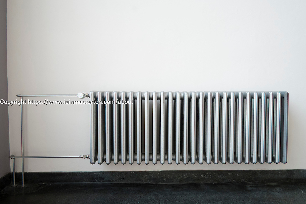radiator in Bauhaus Building and architecture school designed by  Walter Gropius  in Dessau Germany