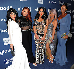 Transgender television personalities (L-R) Bambiana,LA, Xristina, Nya and Bionka, 27th Annual GLAAD Media Awards, at The Beverly Hilton Hotel, April 2, 2016 - Beverly Hills, California. EXPA Pictures © 2016, PhotoCredit: EXPA/ Photoshot/ Celebrity Photo<br /> <br /> *****ATTENTION - for AUT, SLO, CRO, SRB, BIH, MAZ, SUI only*****