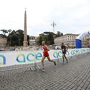Roma 02/04/2017 <br /> Maratona di Roma 2017<br /> il passaggio a Piazza del Popolo