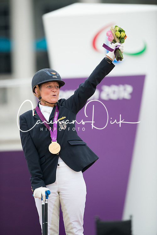 Hannelore Brenner (GER) <br /> Individual Championship Test - Grade Ia<br /> London 2012 Paralympic Games<br /> © Hippo Foto - Jon Stroud