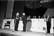 18/05/1962<br /> 05/18/1962<br /> 18 May 1962<br /> Presentation of Variety Club Awards at the Theatre Royal, Dublin. The Variety Heart Award presented to Mr L. McDonnell, Chief Barker, by Taoiseach Mr Sean Lemass TD.