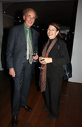 SIR NICHOLAS GOODISON and GWYN MILES Director of the Somerset House Trust at 'Britannia & Muscovy English Silver at The Court of The Tsars' exhibition opening at the Gilbert Collection, Somerset House, London on 20th October 2006<br /><br />NON EXCLUSIVE - WORLD RIGHTS