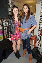 Left to right, VENETIA FALCONER and DOINA CIOBANU at the launch of Matthew Williamson's 'Sea to Shore' range for The Outnet.com held at the Matthew Williamson's showroom, Studio 10-11, 135 Salusbury Road, London NW6 on 5th May 2016