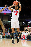 DALLAS, TX - NOVEMBER 26: Keith Frazier #4 of the SMU Mustangs shoots a three-pointer against the Texas Southern Tigers on November 26, 2014 at Moody Coliseum in Dallas, Texas.  (Photo by Cooper Neill/Getty Images) *** Local Caption *** Keith Frazier