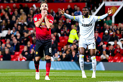 Juan Mata of Manchester United cuts a dejected figure - Mandatory by-line: Robbie Stephenson/JMP - 25/09/2018 - FOOTBALL - Old Trafford - Manchester, England - Manchester United v Derby County - Carabao Cup