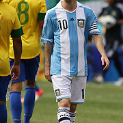 during the Brazil V Argentina International Football Friendly match at MetLife Stadium, East Rutherford, New Jersey, USA. 9th June 2012. Photo Tim Clayton