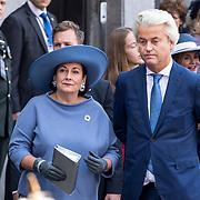 NLD/Den Haag/20170919 - Prinsjesdag 2017, Geert wilders en partner Krisztina