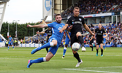 Jason Naismith of Peterborough United in action with Lee Brown of Portsmouth - Mandatory by-line: Joe Dent/JMP - 15/09/2018 - FOOTBALL - ABAX Stadium - Peterborough, England - Peterborough United v Portsmouth - Sky Bet League One