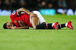 Marcus Rashford of Manchester United picks up a knock - Mandatory by-line: Matt McNulty/JMP - 18/11/2017 - FOOTBALL - Old Trafford - Manchester, England - Manchester United v Newcastle United - Premier League