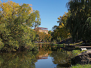 Harlem Meer in Central Park, New York City.