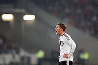 Fussball      EM Qualifikation    17.11.07 Deutschland - Zypern Lukas PODOLSKI (GER) ruft einem Teamkollegen zu.
