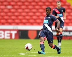 Newcastle United's Georgino Wijnaldum passes - Mandatory by-line: Robbie Stephenson/JMP - 26/07/2015 - SPORT - FOOTBALL - Sheffield,England - Bramall Lane - Sheffield United v Newcastle United - Pre-Season Friendly