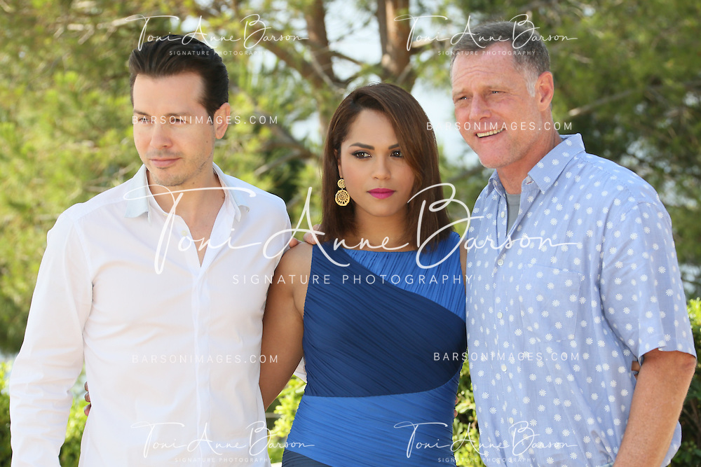 """MONTE-CARLO, MONACO - JUNE 10:  Jon Seda,  Monica Raymund and Jason Beghe attend """"Chicago PD"""" and """"Chicago Fire"""" Photocall at theMonte Carlo Bay Hotel on June 10, 2014 in Monte-Carlo, Monaco.  (Photo by Tony Barson/FilmMagic)"""
