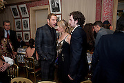 DAVID WALLIAMS; SAM TAYLOR WOOD; AAron Johnson;, Graydon Carter hosts a diner for Tom Ford to celebrate the London premiere of ' A Single Man' Harry's Bar. South Audley St. London. 1 February 2010