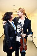 Frankfurt am Main | 01.11.2010..Geiger David Garrett live in der Festhalle in Frankfurt am Main, hier: David Garrett mit Uschi Ottersberg, Chefin der Jahrhunderthalle in Frankfurt...©peter-juelich.com..[No Model Release | No Property Release]