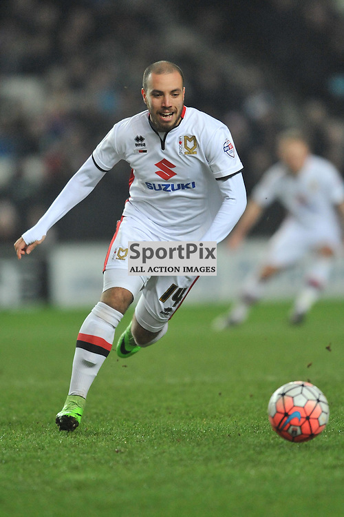 SAMIR CARRUTHERS  MK DONS,   MK Dons v Northampton Town, FA Cup Emirates FA Cup Third round Repay, Stadium MK, Tuesday 19th January 2016