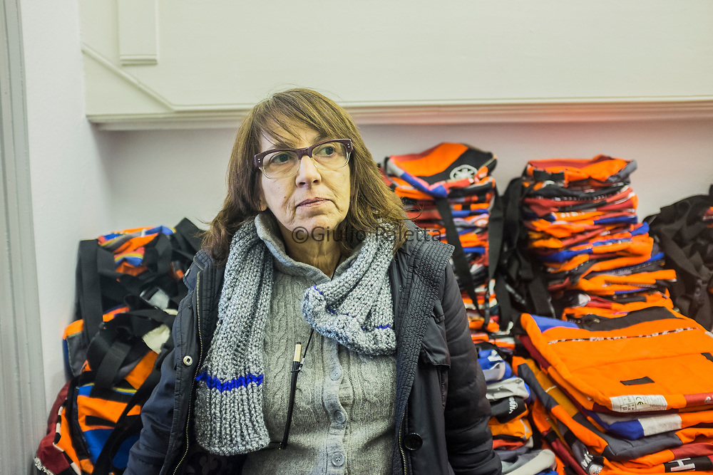"Matina Kontoleontos, Greek designer who created in Mytilene, Lesbos capital, the project ""Safe Passage"", a design laboratory which creates and sells bags and accessories from the refugees' life jackets. She managed to employ for this project 10 refugees who arrived in Lesbos by boat during the past year"