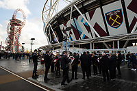 Football - 2018 / 2019 Premier League - West Ham United vs. Watford <br /> <br /> The Redbridge Brass Band playing Christmas Carols before the game, at The London Stadium.<br /> <br /> COLORSPORT/ASHLEY WESTERN