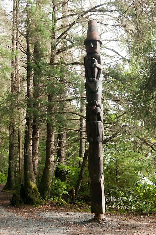 Totem Pole, Sitka National Historic Park aka Totem Park, Sitka, Alaska