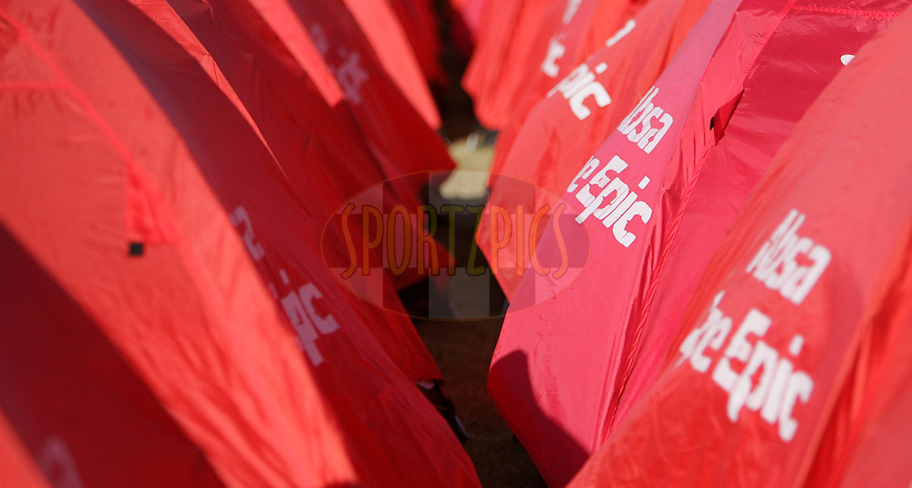 VILLIERSDORP, SOUTH AFRICA - GV of tents during stage two of the Absa Cape Epic Mountain Bike Stage Race held between Gordon's Bay and Villiersdorp on the 23 March 2009 in the Western Cape, South Africa..Photo by Ron Gaunt /SPORTZPICS