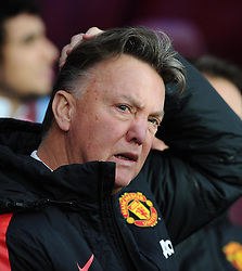 Manchester United Manager, Louis van Gaal  - Photo mandatory by-line: Joe Meredith/JMP - Mobile: 07966 386802 - 20/12/2014 - SPORT - football - Birmingham - Villa Park - Aston Villa v Manchester United - Barclays Premier League
