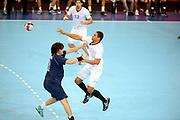 DESCRIZIONE : France Handball Jeux Olympiques Londres <br /> GIOCATORE : Narcisse Daniel FRA Vieyra Federico<br /> SQUADRA : France Homme<br /> EVENTO : FRANCE Handball Jeux Olympiques<br /> GARA : FRANCE ARGENTINE<br /> DATA : 31 07 2012<br /> CATEGORIA : handball Jeux Olympiques<br /> SPORT : HANDBALL<br /> AUTORE : JF Molliere <br /> Galleria : France JEUX OLYMPIQUES 2012 Action<br /> Fotonotizia : France Handball Homme Jeux Olympiques Londres premier tour <br /> Predefinita :