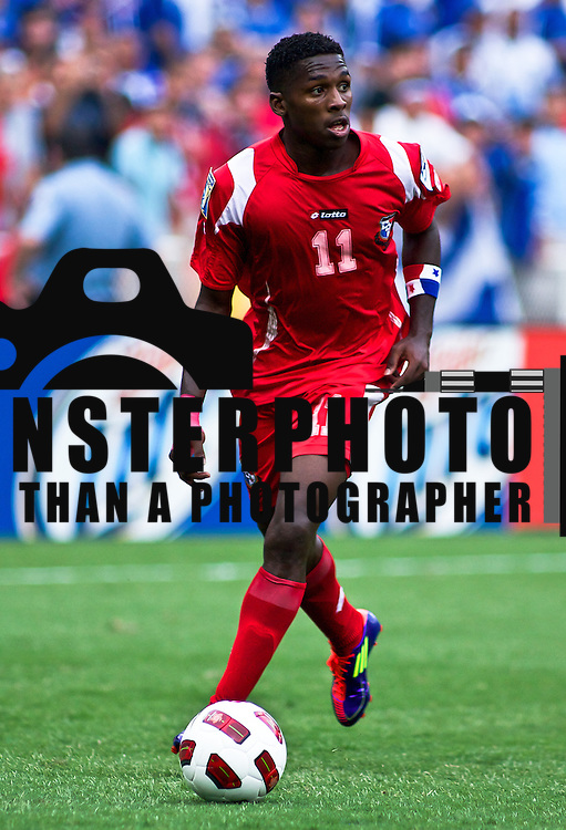 Panama Midfielder Armando Cooper #11 in the midst of the concacaf gold cup quarterfinals Sunday, June 19, 2011 at RFK Stadium in Washington DC.