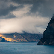 Viðoy and Kunoy from Kallur, Faroe Islands.