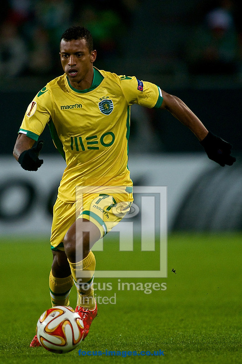Nani of Sporting Clube de Portugal during the UEFA Europa League match at Volkswagen Arena, Wolfsburg<br /> Picture by Ian Wadkins/Focus Images Ltd +44 7877 568959<br /> 19/02/2015