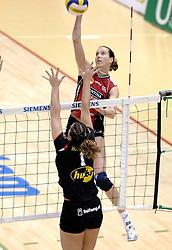 04-03-2006 VOLLEYBAL: FINAL 4 DAMES: AMVJ - PLANTINA LONGA: ROTTERDAM<br /> Longa was veel te sterk voor de dames uit Amstelveen (3-0) / Titia Sustring<br /> Copyrights 2006 WWW.FOTOHOOGENDOORN.NL