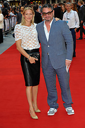 Rebecca Morgan with Huey Morgan arriving for the world premiere of Diana, in London, Thursday, 5th September 2013. Picture by Chris Joseph / i-Images