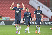 Southend United defender Ryan Leonard celebrates his goal to go 1-0 up during the Sky Bet League 1 match between Sheffield Utd and Southend United at Bramall Lane, Sheffield, England on 14 November 2015. Photo by Ian Lyall.