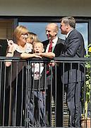 SOUTH BERMONDSEY, LONDON:  (L-R) Gillian Warren, resident, Yvette Cooper, Alfie Warren (9) resident, John Healey, Ed Balls. Ed Balls, Labour Leadership candidate joins shadow housing minister John Healey and  shadow work and pensions secretary Yvette Cooper  during a visit to a housing development, The Falcon Works development, in central London on 31 August 2010. STEPHEN SIMPSON..