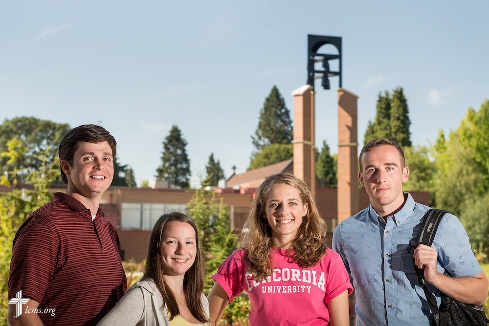 Students pose for a group portrait at Concordia University on Friday, July 11, 2014,  in Portland, Ore. LCMS Communications/Erik M. Lunsford
