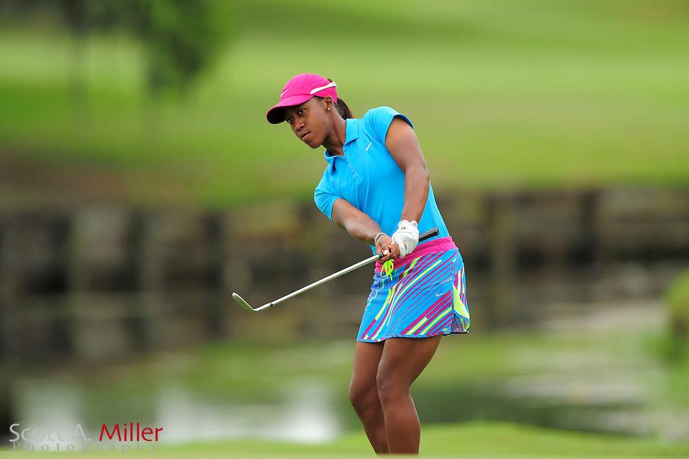 Sadena Parks during the second round of the Symetra Tour's Guardian Retirement Championship at Sara Bay in Sarasota, Florida April 27, 2013. ..©2013 Scott A. Miller