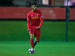 KIRKBY, ENGLAND - Wednesday, November 23, 2016: Liverpool's Joe Gomez in action against Burnley during the Lancashire Senior Cup 2nd Round match at the Academy. (Pic by David Rawcliffe/Propaganda)