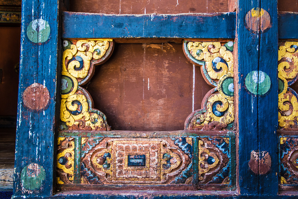 A painted wall in Bhutan