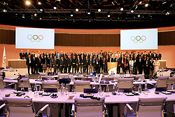 LIMA, Sept. 16, 2017  Members of the International Olympic Committee (IOC) pose for photos after the 131st IOC session in Lima, Peru, on Sept. 15, 2017. The 131st IOC session concluded on Friday. (Credit Image: © Li Ming/Xinhua via ZUMA Wire)