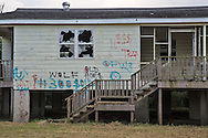 July 17, Eastern New Orleans, Blighted home destroyed by Hurricane Katrina in 2005.