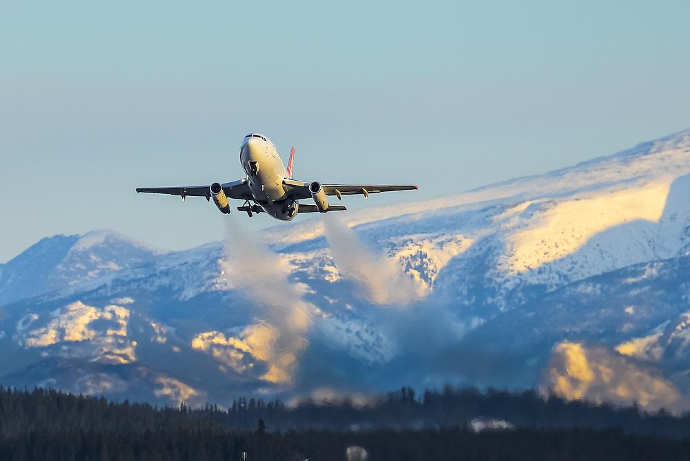 Take-off at 30 below zero