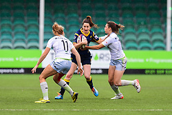 Alexia McGahan of Worcester Valkyries is tackled by Helena Rowland of Saracens Ladies  - Mandatory by-line: Craig Thomas/JMP - 30/09/2017 - RUGBY - Sixways Stadium - Worcester, England - Worcester Valkyries v Saracens Women - Tyrrells Premier 15s